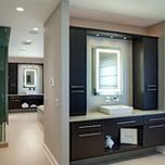 Contemporary His and Hers Master Bath - Evanston, IL