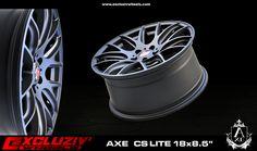 """Jante AXE CS Lite 18x8.5"""", Noir mat"""
