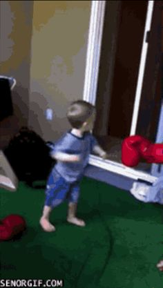 This father teaching his son to be tough: | 14 Parents Who Are Owning This Whole Parenting Thing