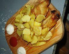 Te animas con unas Patatas con Alitas de Pollo?