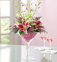 Centerpieces - Combining Seashells with Stargazer Lilies - IM2BABYBLUE4U's Blue Wedding by Color Blog