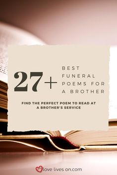 8768b6e9c 32 Best Funeral Poems for Brother images in 2019   Brother poems ...