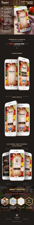 Organic - Mobile Login Screens Template PSD #design #ui Download: http://graphicriver.net/item/organic-mobile-login-screens/13105046?ref=ksioks