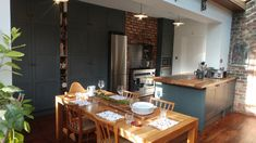 grey handpainted kitchen with oak worktops great fushion of industrial with classic shaker