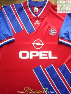 Relive Bayern Munich's season with this vintage Adidas home football shirt. Classic Football Shirts, Football Tops, Retro Football, Football Uniforms, Vintage Football, Football Stuff, Jupp Heynckes, Premier League Teams, Soccer Skills