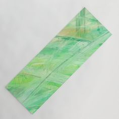 Positive vibes only, abstract green Yoga Mat by chaploart | Society6