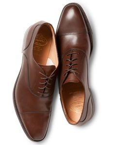 Churchs Leather Oxford Shoes Guys on the lookout for an all-purpose, just about all-occasion dress shoe—look no further. A cap toe is a classic silhouette that can take you from the boardroom to the bar, and, save for black tie, will pair up smartly with almost everything in your wardrobe. These rich brown bench-made Churchs are an investment that will stay stylish for many years to come.