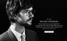 Mr Ben Whishaw | The Look | The Journal|MR PORTER