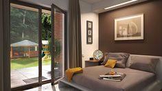 Projekt domu Murator M132 Wariantowy 128,20 m² - koszt budowy - EXTRADOM Simple House Plans, Modern House Plans, House Layout Plans, House Layouts, Best Living Room Design, Living Room Designs, Hut House, House Construction Plan, Sims House Design