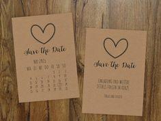 Save the Date Karte   Kalenderblatt