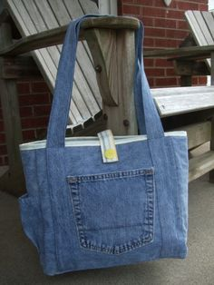 Upcycle Jeans Tote by LiliAndLibby on Etsy
