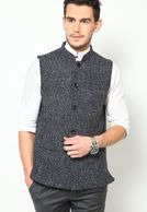 Look your best even in winters wearing this black coloured waistcoat for men from the house of Even . Made from 100% wool , this slim-fit waistcoat will keep you warm and comfortable all day long.Team it with black coloured formal trousers and get ready for an evening party.