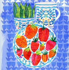 'Strawberry Still Life' by Tracey English