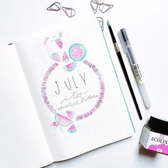 Guys, I did it!! I finally managed to write summer with two m's! I think I deserve some ice cream. ••• #bulletjournal #bujo #bulletjournalcommunity #bulletjournaljunkies #wearebujo #leuchtturm1917 #plannergirl #stationery #stationeryaddict #planner