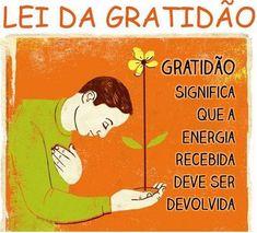 Frases para Facebook - Lei da gratidão | Frases com imagens e recados para Facebook
