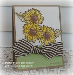 Gina's Little Corner of StampinHeaven: Friendship Bouquet - May Stamp of the Month