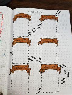 Bullet Journal Banner, Bullet Journal Lettering Ideas, Bullet Journal Notebook, Bullet Journal School, Bullet Journal Spread, Bullet Journal Layout, Bullet Journal Ideas Pages, Bullet Journal Inspiration, Harry Potter Journal