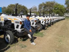 A fan shared picture of the #Eicher #tractors from #Bhopal, #India.