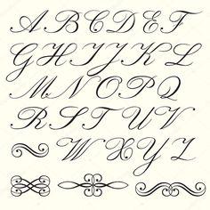Afbeeldingsresultaat voor sierlijke letters alfabet