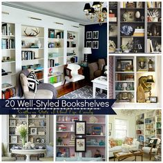 Southern State of Mind: Eye Candy: 20 Well-Styled Bookshelves