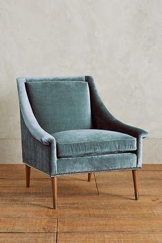 Slide View: 1: Slub Velvet Tillie Armchair