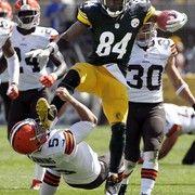 Steelers Antonio Browns kicks Browns punter in the head in 'Karate Kid' moment