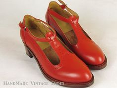 """""""HandMade Vintage Shoes"""" on etsy.  (108 dollars, 88 cents)"""