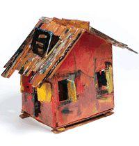 beverly buchanan Clay Houses, Ceramic Houses, Miniature Houses, Art Houses, Kitsch, Art And Architecture, Vernacular Architecture, Pottery Houses, Collaborative Art