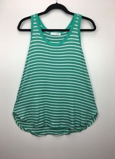 Buy my item on #vinted http://www.vinted.com/womens-clothing/sleeveless-and-tank-tops/22585237-green-white-striped-racerback-tank