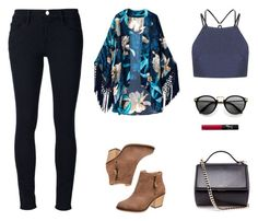 Untitled #604 by patrisha175 on Polyvore featuring polyvore fashion style Frame Denim Topshop Givenchy NARS Cosmetics