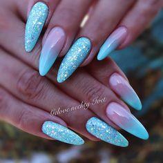 #summer #summernails #blue #azur #azureblue #nails #nail #glitter #hellosummer