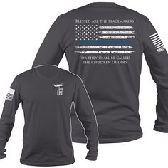 Nine Line Apparel - Men's Long Sleeve - Thin Blue Line, $30.99 (http://www.ninelineapparel.com/mens-long-sleeve-thin-blue-line/)