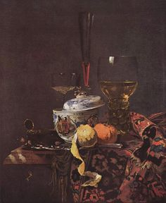 Willem Kalf Still life with glassware and porcelain covered on × 53 cm × in)Current location Gemäldegalerie, Berlin Famous Still Life Paintings, Classic Paintings, Painting Still Life, Old Paintings, Dutch Still Life, Still Life Art, Artistic Photography, Art Photography, Renaissance Artists