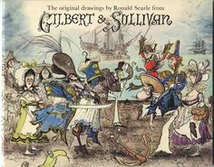 gilbert  and Sullivan illustrations Ronald searle
