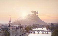 Les vaisseaux de Star Wars échoués dans Paris, New York ou San Francisco........DOCUMENT.......