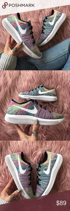NWT lunarepic Flyknit multicolored Brand new no box!price is firm!!Fine-tune your next run with the Women's Nike LunarEpic Low Flyknit Running Shoes. Experience a secure and smooth ride with the help from a Flyknit upper for that locked-in fit you love and a Lunarlon midsole that provides unparalleled lightweight cushioning. The LunarEpic Low Flyknit provides laser-cut pods for precise, enhanced cushioning with the addition of a skin-like overlay that keeps everything neatly in…