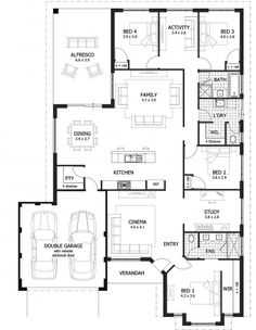 Paterson Floor Plan - The Paterson is a stylish and unique home design that offers a bonus study and activity room for growing families.