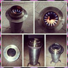 Stufa pirolitica costruita da me..pellet...#pirolisi #fuoco caldo #pellets #hobby #pyrolysis #selfmade #steel