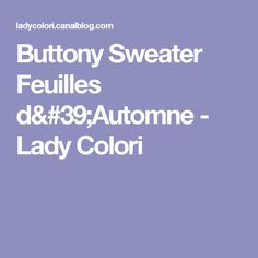 Buttony Sweater Feuilles d'Automne - Lady Colori