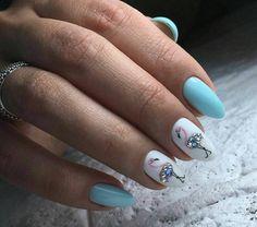 nail art été flamants strass