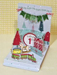 Love this Pop 'n Cuts pop-up card with Floating Floor by Tiffany.