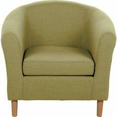Jodie Fabric Tub Chair in Lime - Argos