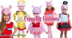 Peppa Pig Costumes: Bubble Costume, Ballerina Costume, Pirate Costume, Raincoat Costume, Super Deluxe Tutu Costume