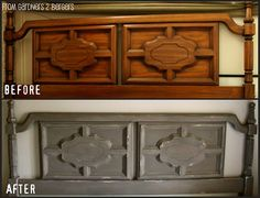 Painted Headboards how to paint a headboard & footboard | bedrooms, paint furniture