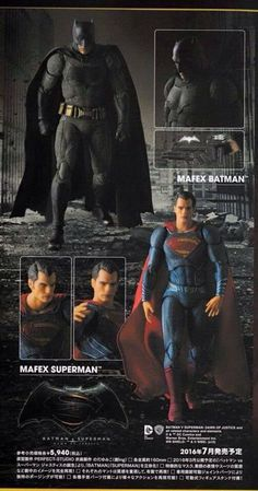 """New Image of Batman v Superman: Dawn of Justice MAFEX 6"""" Figures!"""