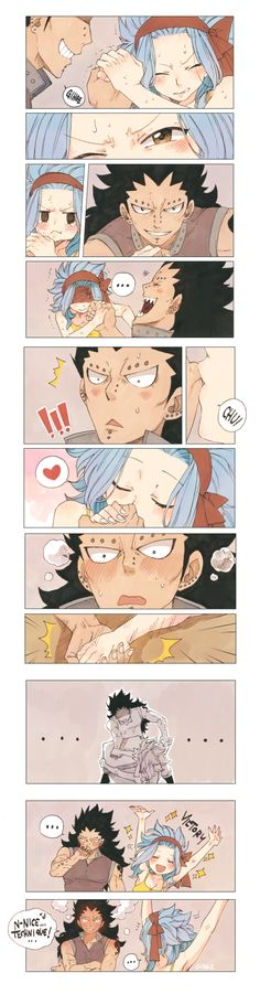 Gajeel vs Levy - the whole story