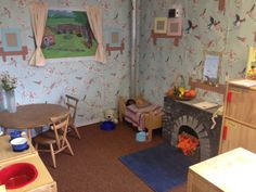 diy dramatic play areas in playroom Dramatic Play Area, Dramatic Play Centers, Play Corner, Corner House, Play Spaces, Learning Spaces, Home Corner Ideas Early Years, Role Play Areas Eyfs, Preschool Rooms