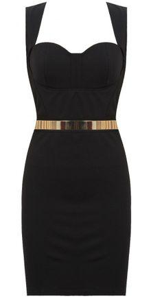 Oryginalna sukienka ze złotym paskiem mirror belt! http://lovetrendy.pl/sklep/dresses/czarna-gorsetowa-sukienka-ze-zlotym-paskiem/