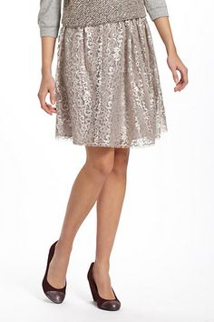 Metallic Tulle Skirt at anthropologie  will look so cute with a sweater and flats.