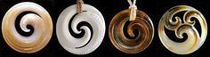 Maori koru symbol necklaces